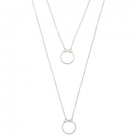 The Goods Double-Row-Circle-Necklace-Silver