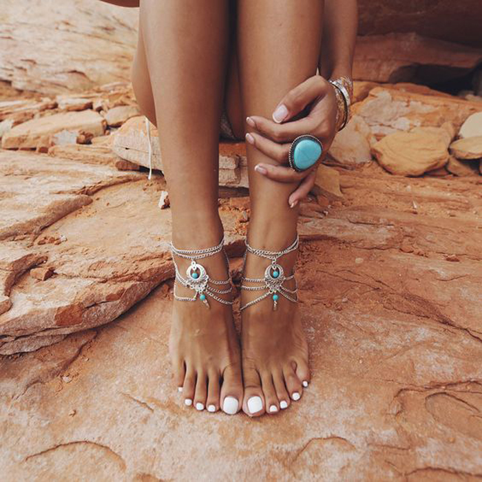 The Goods Turquoise-anklet