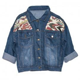 Patch-denim-jacket