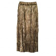 gold-plisse skirt